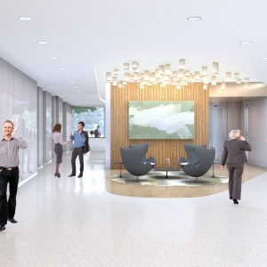 Hospitality Lobby Maple Entrance