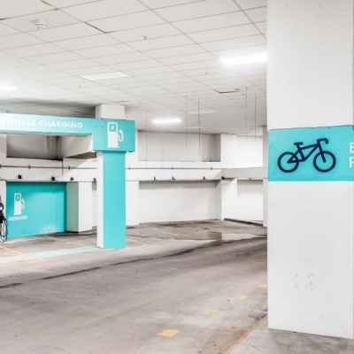 Electric Car Charging and Bike Parking